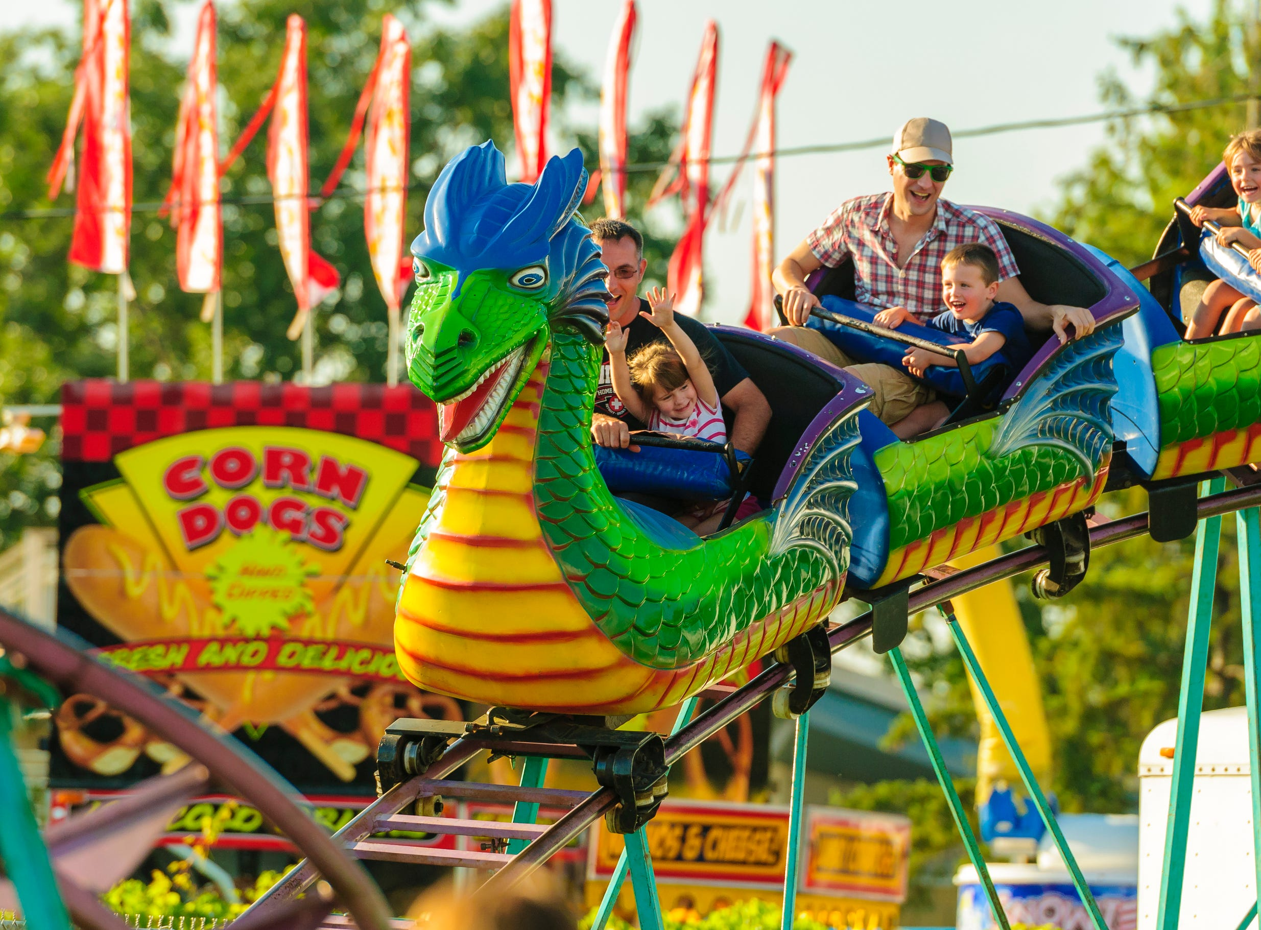 The Dragon Coaster is one of four retro-themed rides that will invited visitors to relive memories at Clementon Park this season.