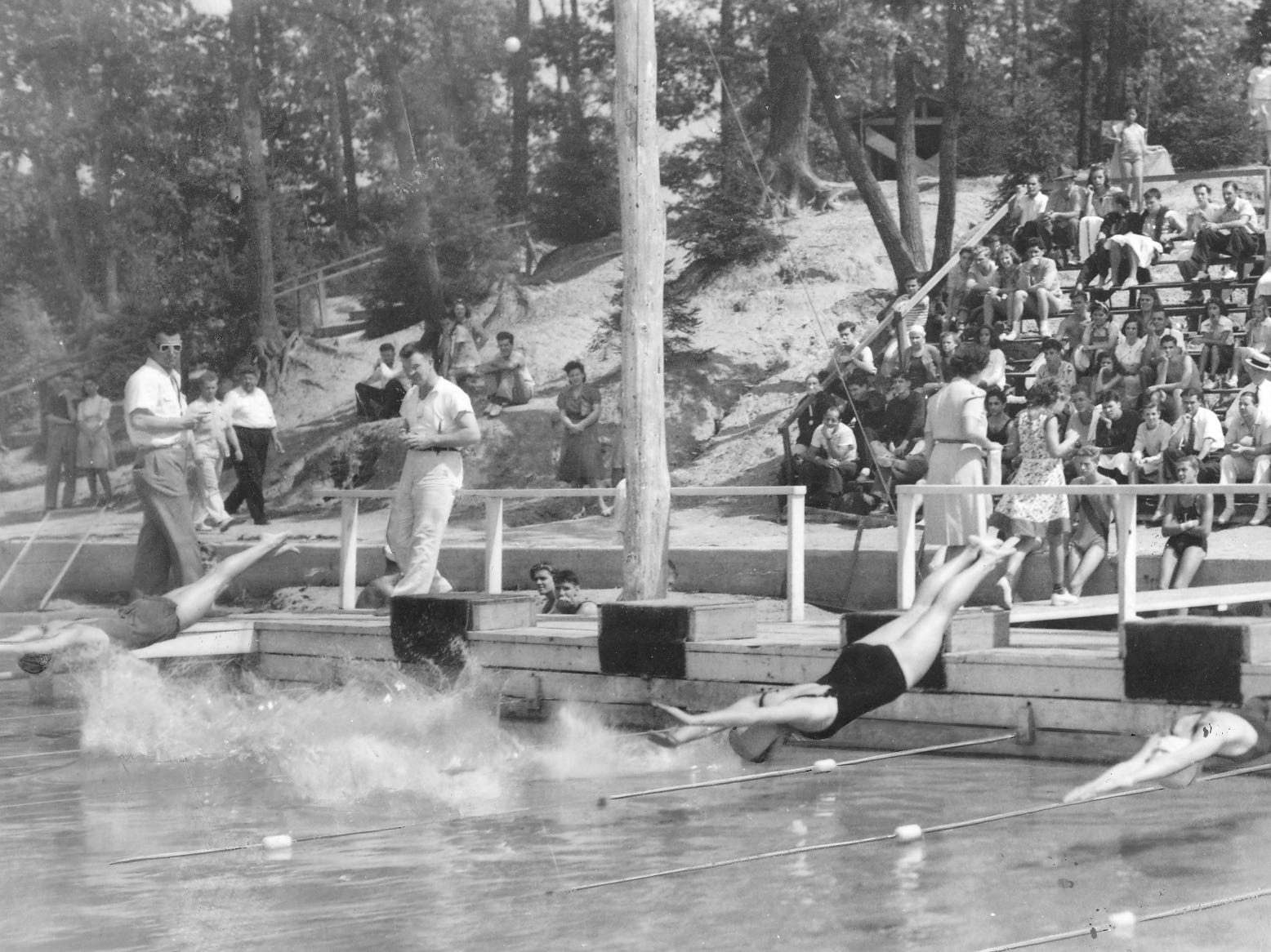 September 3, 1940 file photo of a woman's 100-yard freestyle race that was held at Clementon Lake Park.