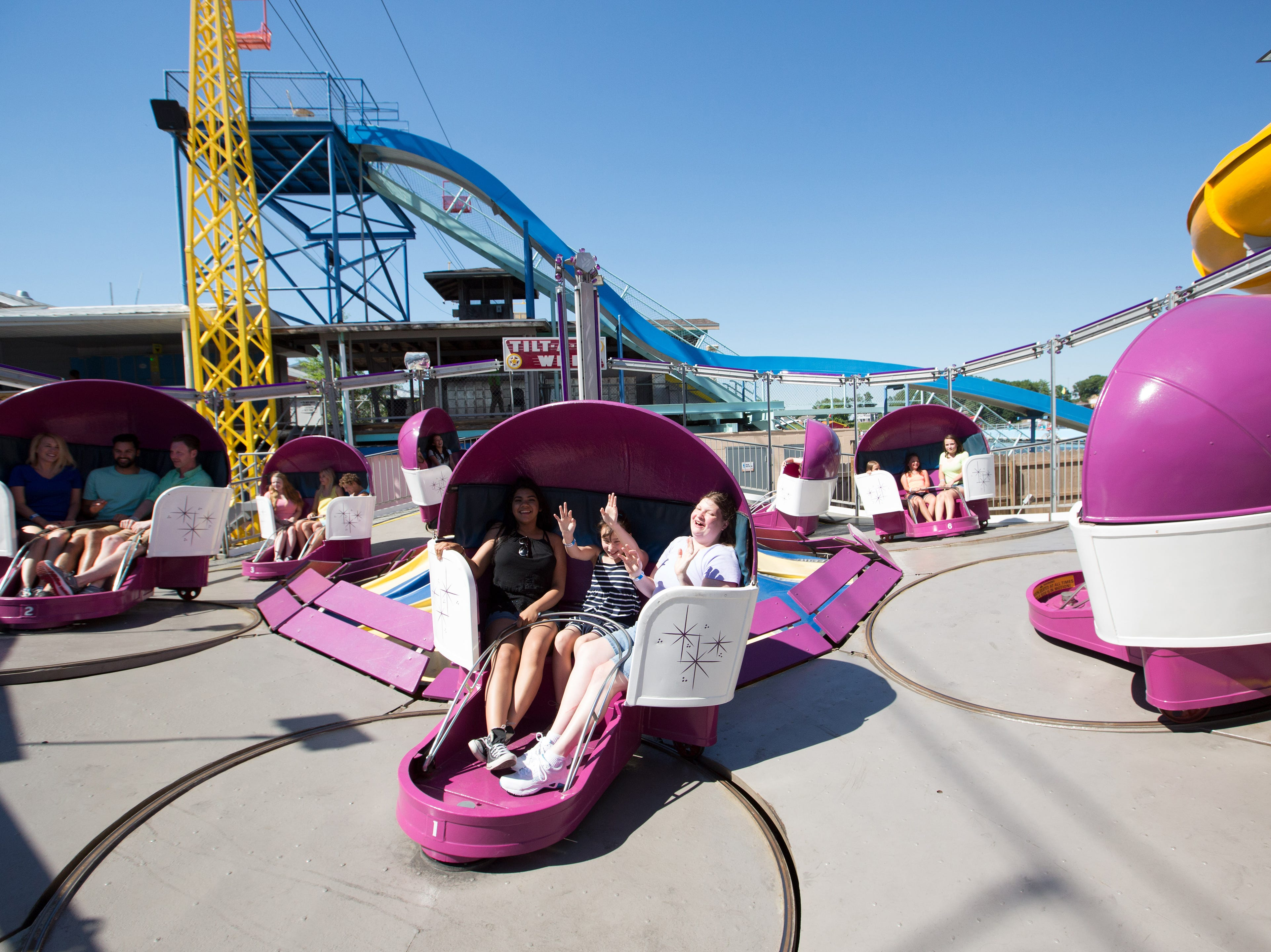 The Tilt-A-Whirl is one of the classic rides coming to Clementon Park this season.