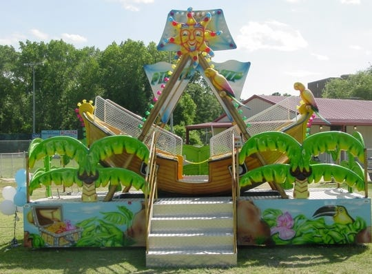 Clementon Park's youngest visitors can take a ride on a mini pirate ship.