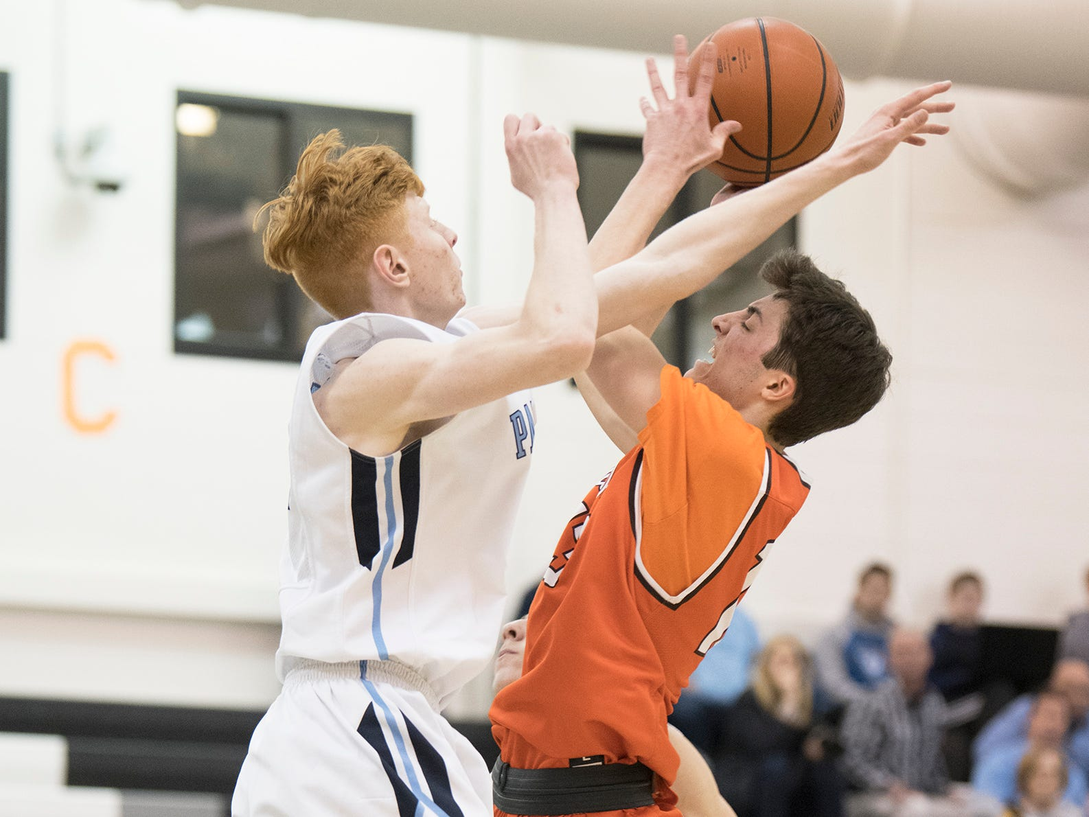 Cherokee faced Freehold in the Group 4 state semifinal boys basketball playoff game played at Egg Harbor Township High School on Wednesday, March 6, 2019.    Freehold won the game, 44-42.