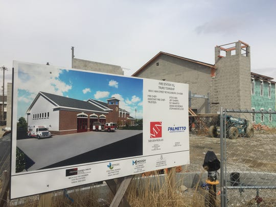 The Truro Township fire station sits about half completed in Reynoldsburg after Palmetto Construction defaulted on the $3.7 million project. Originally, the station was set to be done in January 2019 but it was pushed back to April 2019. Now officials are hoping it will be done in August 2019.