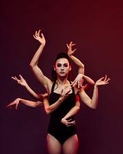 """Cincinnati Ballet corps de ballet member Bella Ureta is pictured in a promotional photo for """"The Kaplan New Works Series."""""""