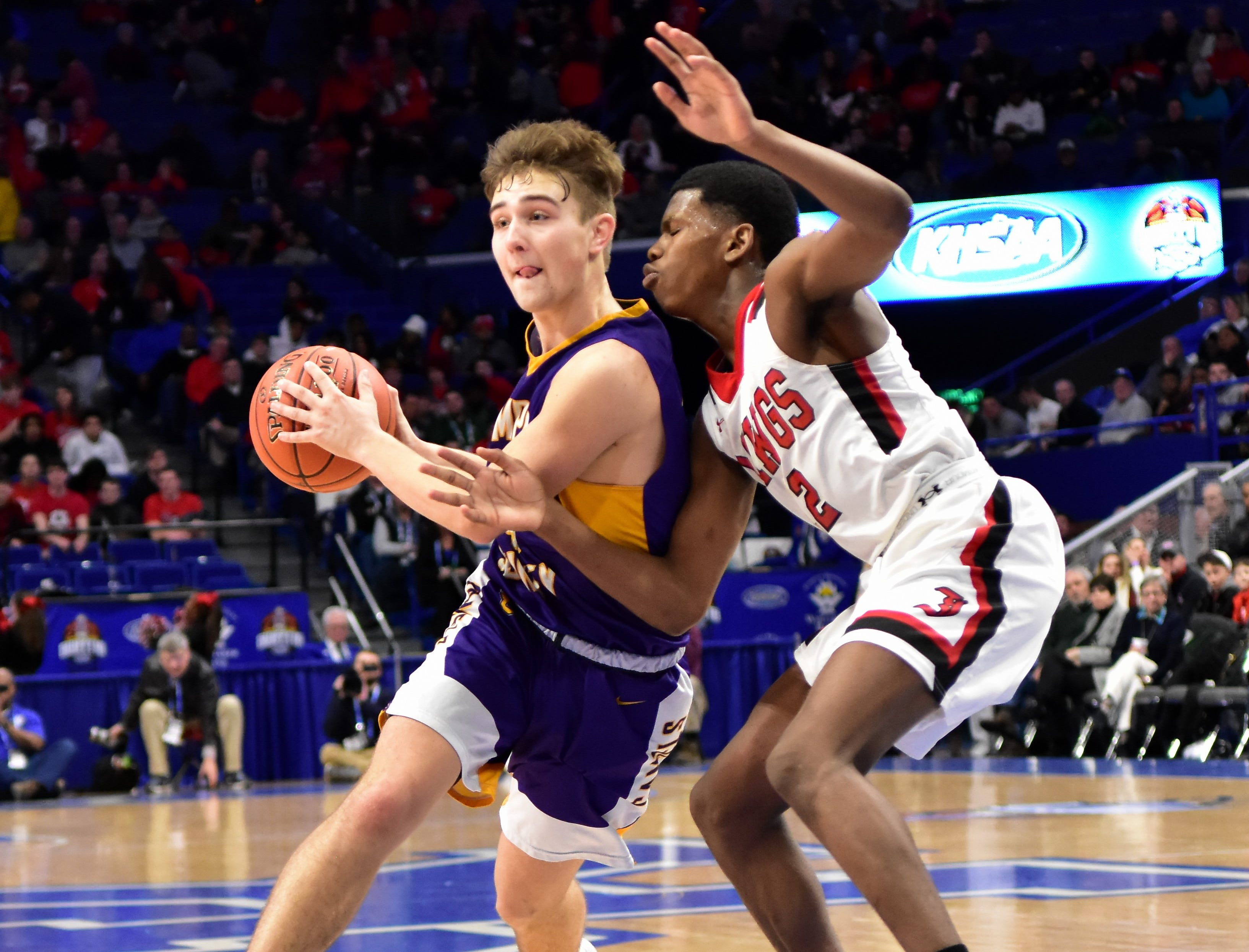 Tight squeeze defense was the rule most of the night from John Hardin but Campbell County prevailed in round 1 by a 61-60 count at the KHSAA Sweet 16 Tournament at Rupp Arena in Lexington, KY, March 6, 2019