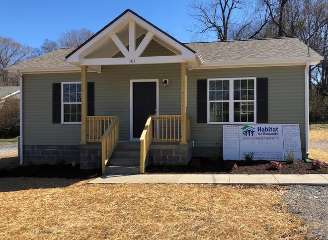 Habitat for Humanity of Montgomery County built this home on Reynolds Street for the McAdoo family.