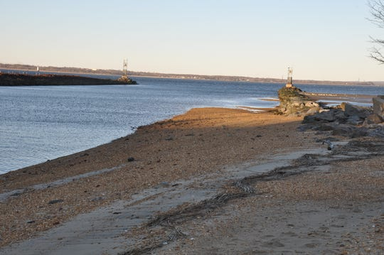 During storms, debris pushes over the rocks and land in the jetty adding to the issues with the Cheesequake Creek channel.