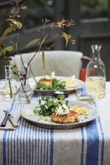 Salmon Fish Cakes with Horseradish Cream