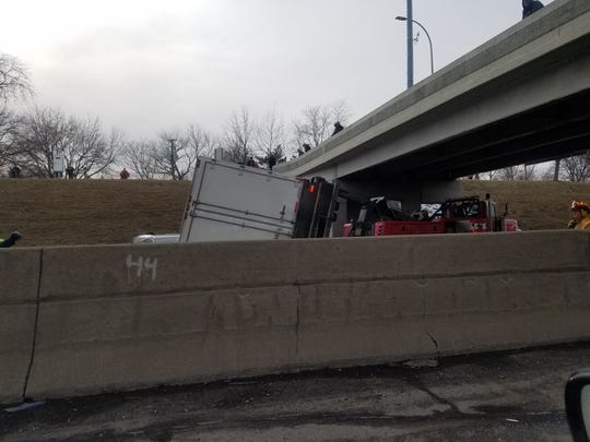 A semi accident killed a female driver Thursday, March 7, 2019, on westbound I-94 in St. Clair Shores.