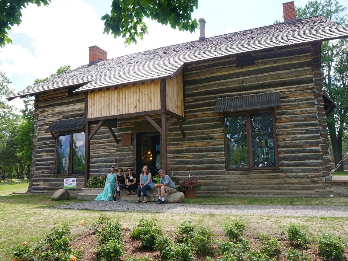 The Palmer Park Log Cabin, designed by famed architects George D. Mason and Zacharia Rice, was donated to the city of the Detroit in the late 1800s with land to create a public park. Restoration work on the cabin was completed in 2017.