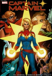 "Carol Danvers is now Marvel's Captain Marvel, but has gone through a lot of changes to get there. Cover art to ""Captain Marvel: Ms. Marvel - A Hero is Born"" by Amanda Conner. (Marvel Entertainment Inc./TNS)"