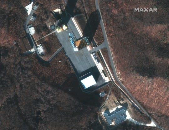 This Dec. 5, 2018 image shows a satellite image of North Korea's Sohae facility.