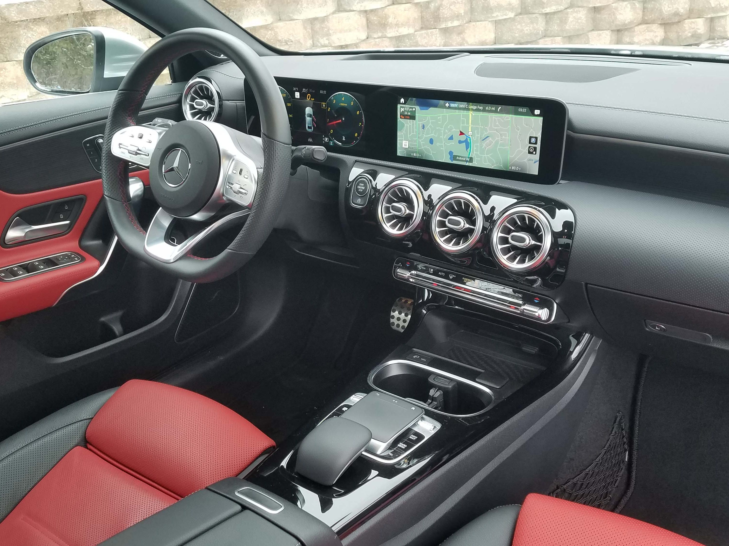 The Mercedes A220 interior is a big step up from the CLA's cheap, ill-fitting attempt of five years ago. The A-class is a baby S-class in style and detail.