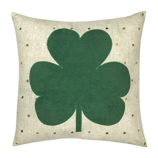 Celebrate St. Patrick's Day with a festive pillow.