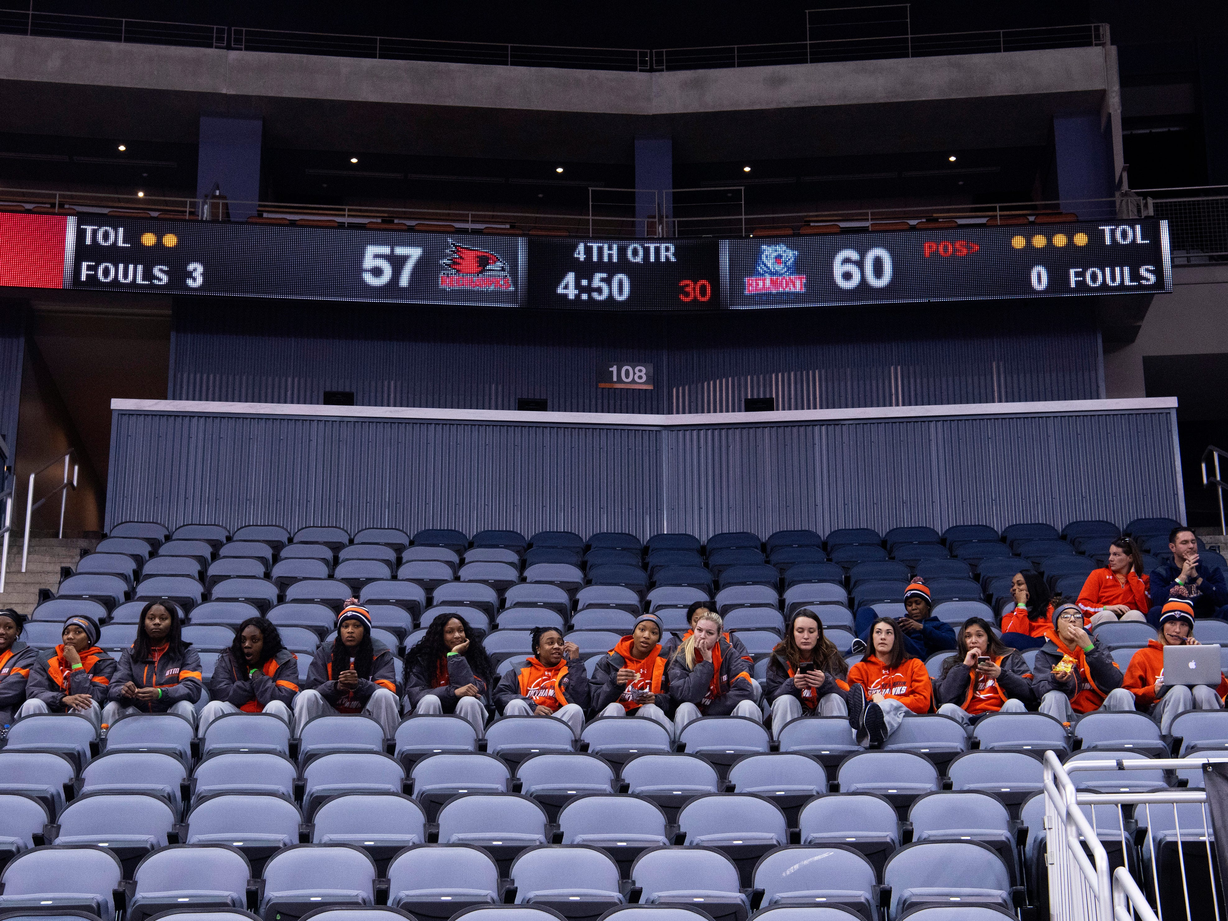 The UT Martin women's basketball team takes in the first game of the Ohio Valley Conference Basketball Championships at the Ford Center Wednesday afternoon. They would take on Murray State in Game 4 of the tournament the next day.