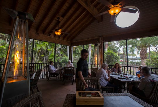 A view of the outdoor dining area at Sweet Melissa's in Sanibel, Tuesday, March 5, 2019.