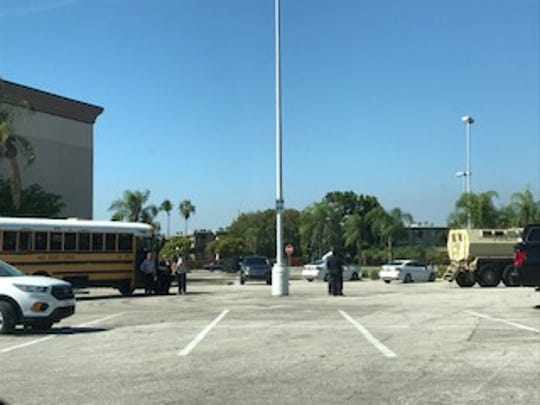 A barricade situation  at The Laurel Apartments off Solomon Boulevard in Fort Myers Thursday forced the Lee County School District to have school buses with children bound for the complex diverted to Edison Mall where parents were directed for pickup.