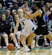 UWGB guard Frankie Wurtz, pictured against Cleveland State in March, scored a team-high 13 points on Monday.
