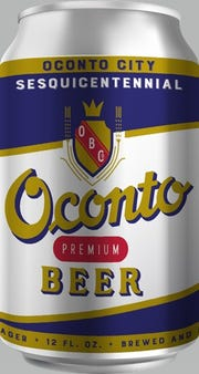 The design of the Oconto Beer can, which is expected to be available at stores and taverns in Oconto, and one bar in Oconto Falls, beginning March 18.