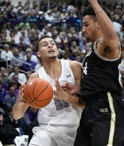 The progress of freshman Jalen Slawson (20)  has give Furman a nine-player rotation for the SoCon Tournament.