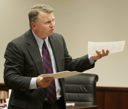 Greenville County Attorney Mark Tollison argues a case in December 2004.