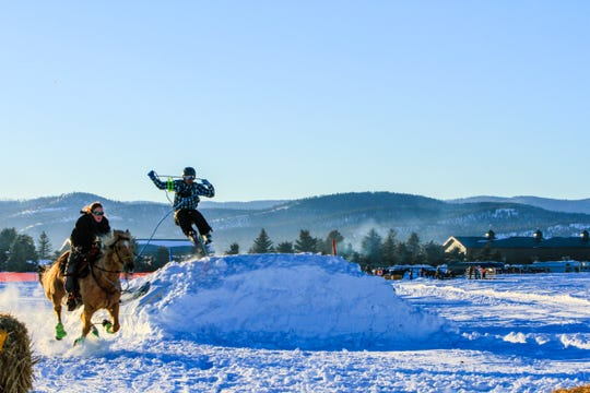 Skijoring at Rebecca Farms, Sunday March 3