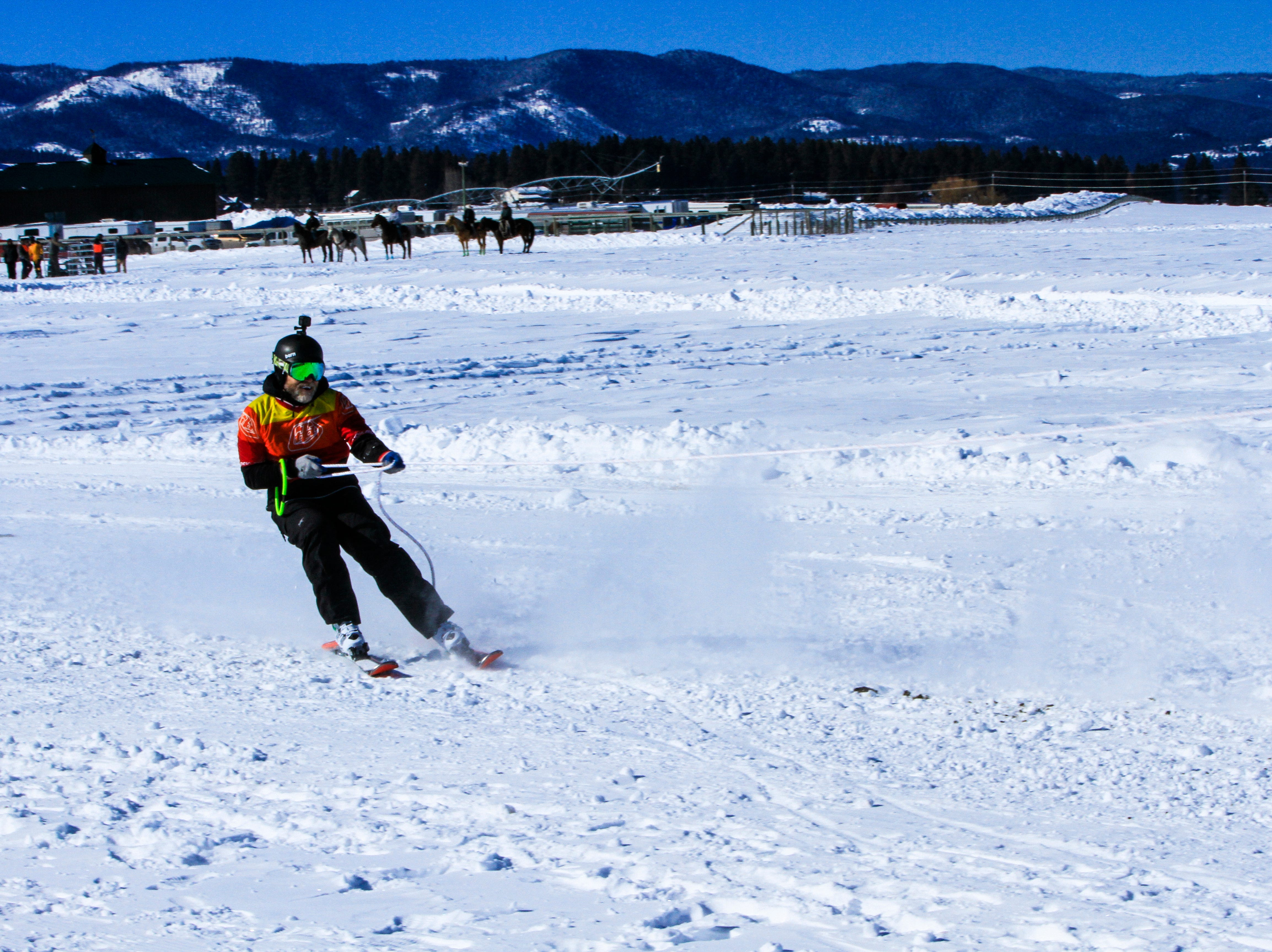 Skijoring at Rebecca Farms, Sunday March 3