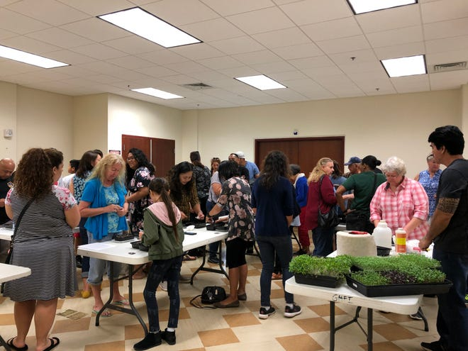 37 future microgreen farmers filled the room at the Guam Museum on Saturday, March 2.