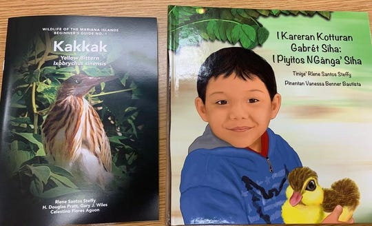 I Kareran Kotturan Gabrét Siha: I Piyitos NGånga' Siha and  Kakkak by Rlene Santos Steffy, author of CHamoru Children's Book and wildlife photographer.