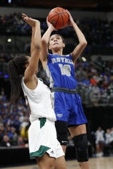 Hamilton Southeastern's Amaya Hamilton helped the Royals to this year's Class 4A state title.
