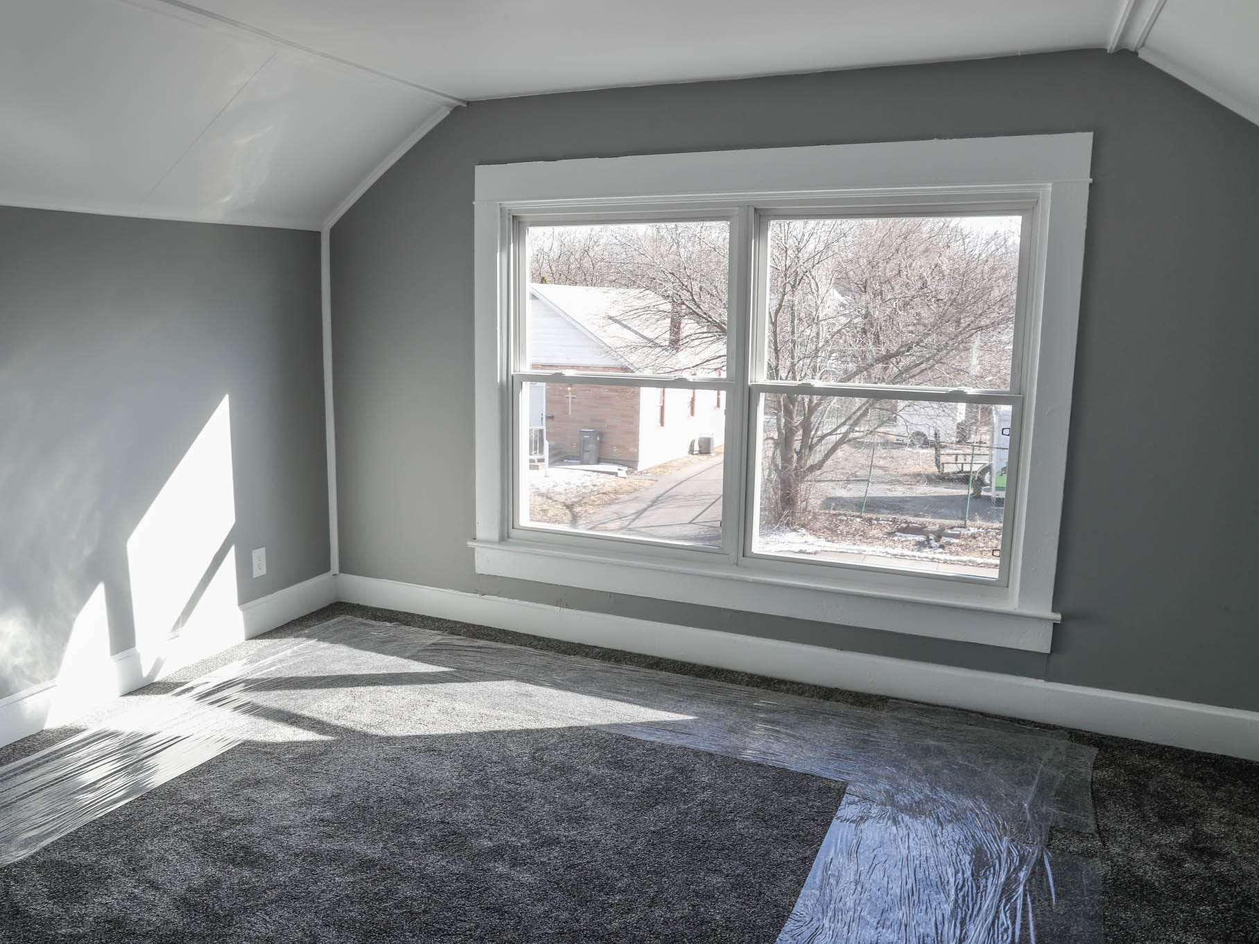 A newly remodeled home on Cruft St., affectionally known as the 'tan house' features unique bedrooms and is part of the Big Car Collaborative and Riley Area Development affordable artist home ownership program on the near south side of Indianapolis on Wednesday, March 6, 2019.  The goal of the Artist and Public Life Residency (APLR), will be to provide artists with home ownership while they work and collaborate with the greater community.