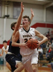 FILE – Avon captain Zach Rinehart broke his foot before the season started and didn't return until early February.