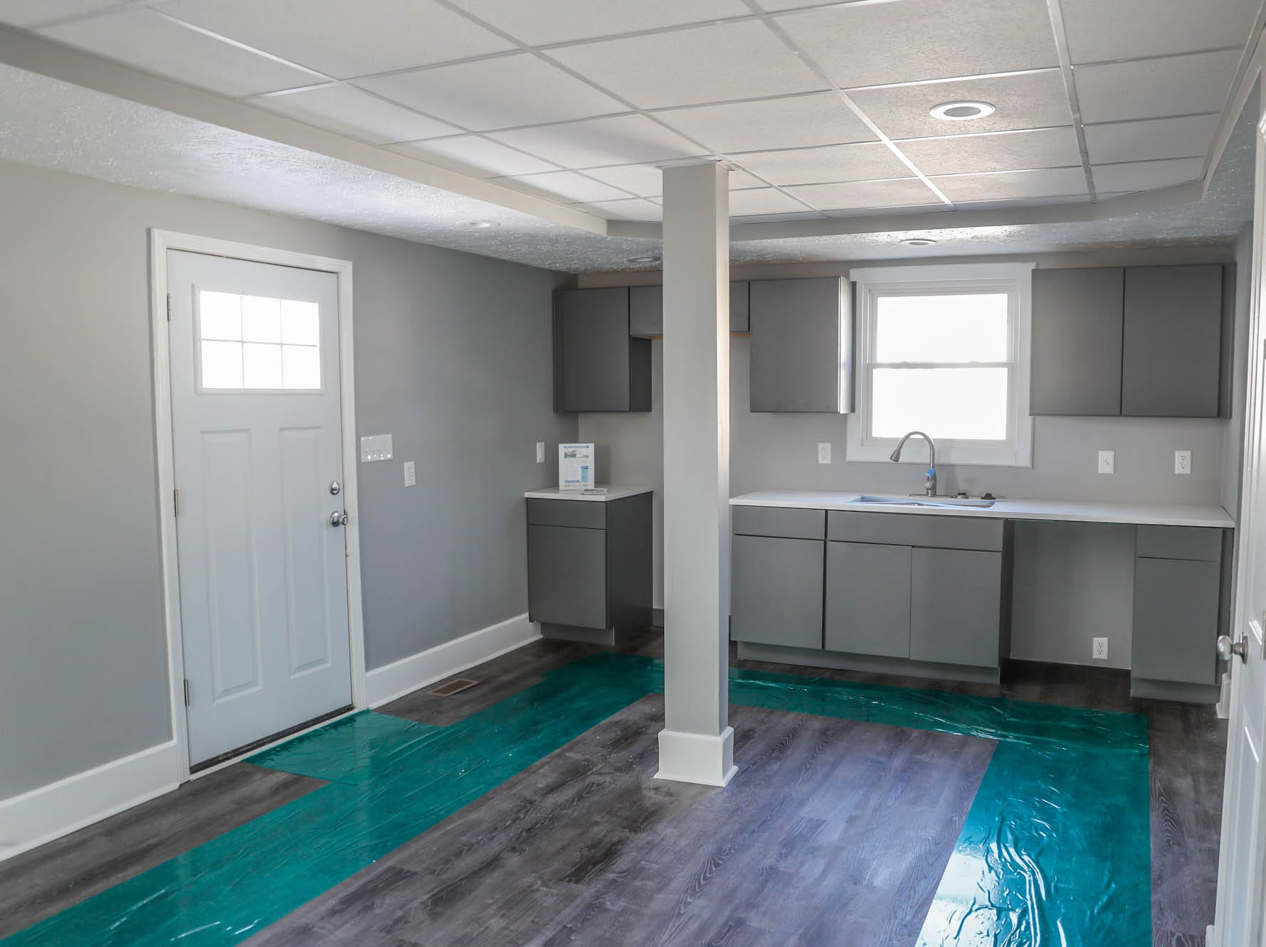 A newly remodeled home on Cruft St., affectionally known as the 'tan house' features a new kitchen and is part of the Big Car Collaborative and Riley Area Development affordable artist home ownership program on the near south side of Indianapolis on Wednesday, March 6, 2019.  The goal of the Artist and Public Life Residency (APLR), will be to provide artists with home ownership while they work and collaborate with the greater community.