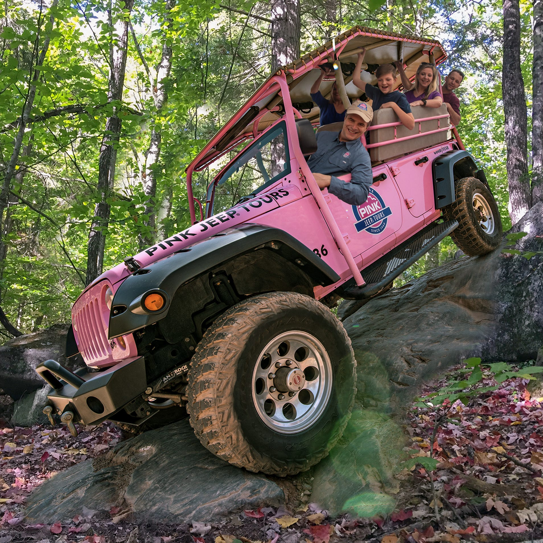 Pink Adventure Tours, featuring pink Jeep Wranglers, coming to Smoky Mountains