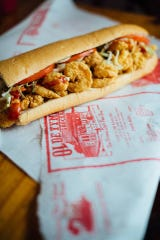 The fried shrimp po-boy is a Lenten staple at Old Tyme Grocery in Lafayette.