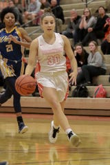 Lauren Brown scored 11 points for Brighton in a district semifinal basketball victory over Dexter.