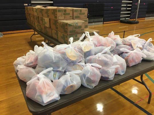 Food packages were available at Chancey Elementary during a teacher sickout on Wednesday, March 6, 2019.