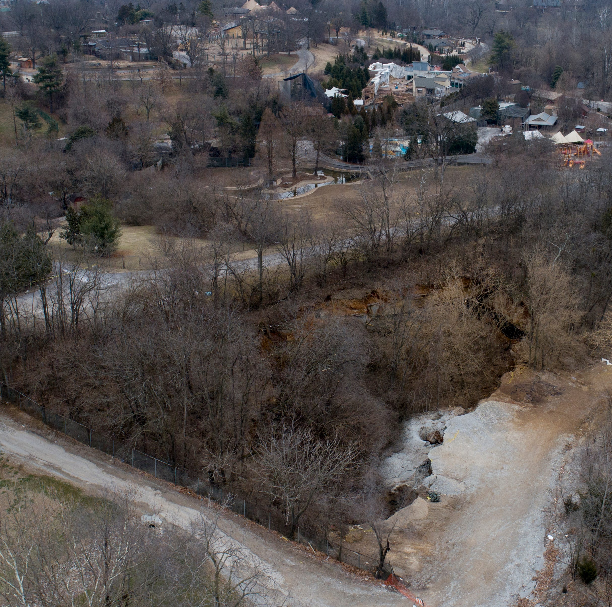 Sinkholes may be common, but the Louisville Zoo's crater is unusual