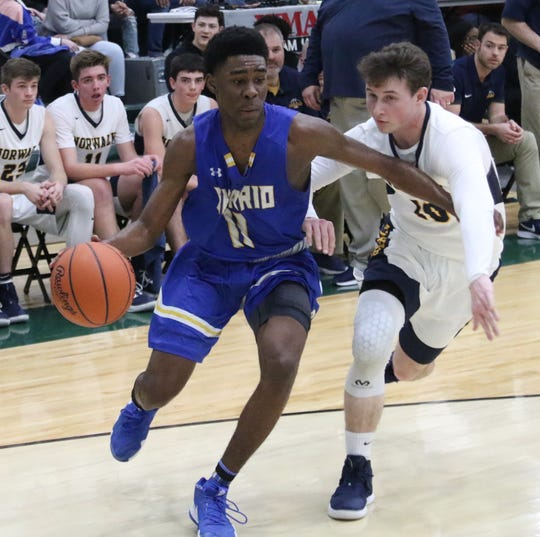 Ontario's Shaquan Coburn scored 26 points in a loss to Norwalk on Wednesday night.