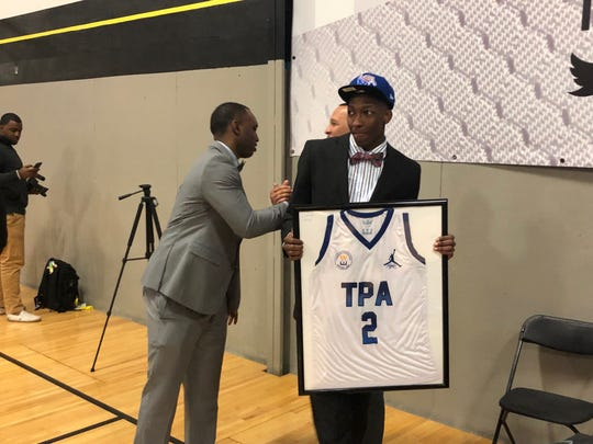 March 6, 2019 -- Tennessee Prep Academy guard Damion Baugh commits to Memphis.