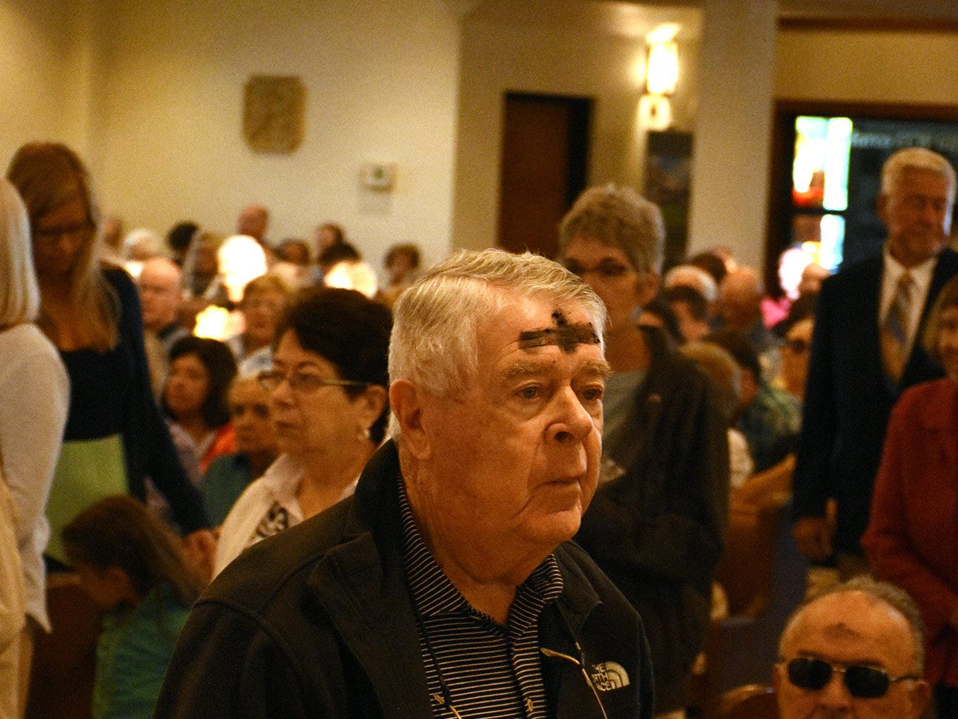 Catholics on Marco Island and around the world, along with many other Christians, celebrated Ash Wednesday by attending mass and having a cross drawn on their foreheads in ashes.