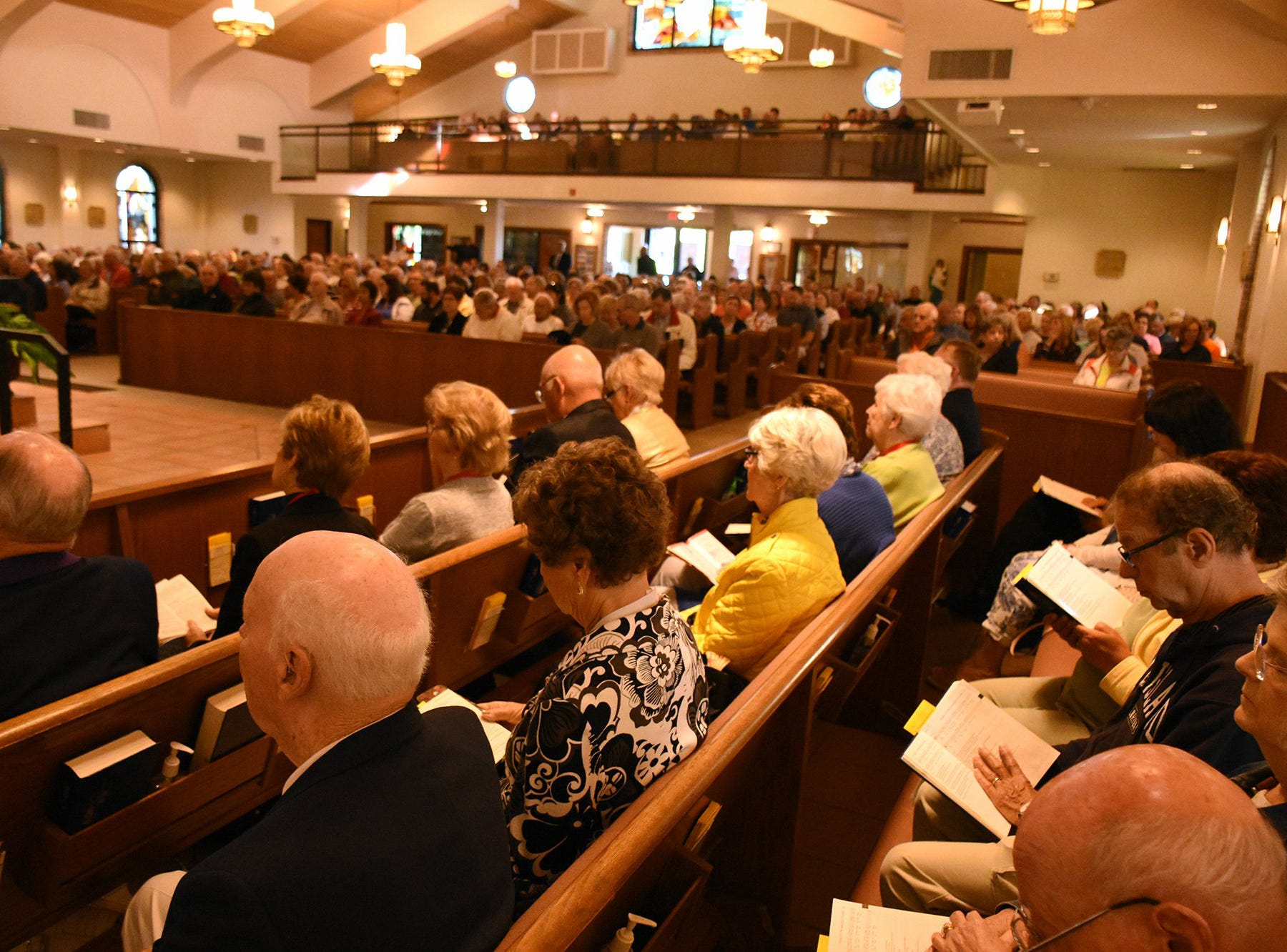 The pews and parking lot at San Marco Catholic Church were packed Wednesday morning. Catholics on Marco Island and around the world, along with many other Christians, celebrated Ash Wednesday by attending mass and having a cross drawn on their foreheads in ashes.