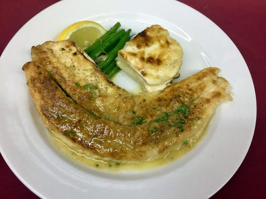 Sautéed Walleye with Meunière sauce, Haricots Verts and Dauphinoise Potatoes is French food at its most doable.