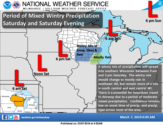Another storm is headed for Wisconsin this weekend.