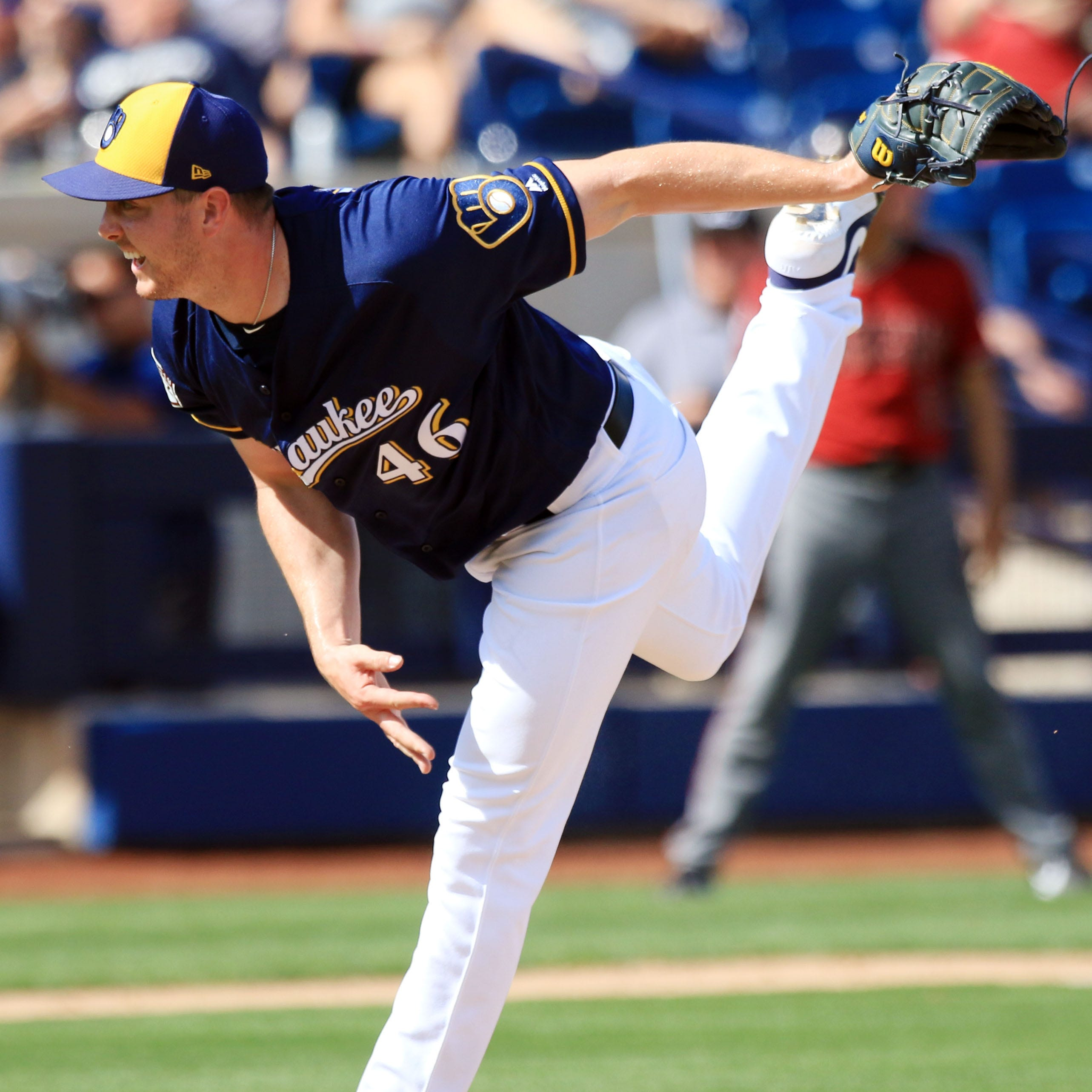 Brewers reliever Corey Knebel will get a second opinion on the 'issue' with his pitching elbow