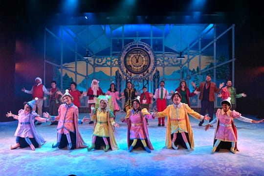 """Milwaukee's First Stage will perform the musical """"Elf"""" Nov. 23-Dec. 31. This image of """"Elf"""" is from Orlando Repertory Theatre's 2018 production."""