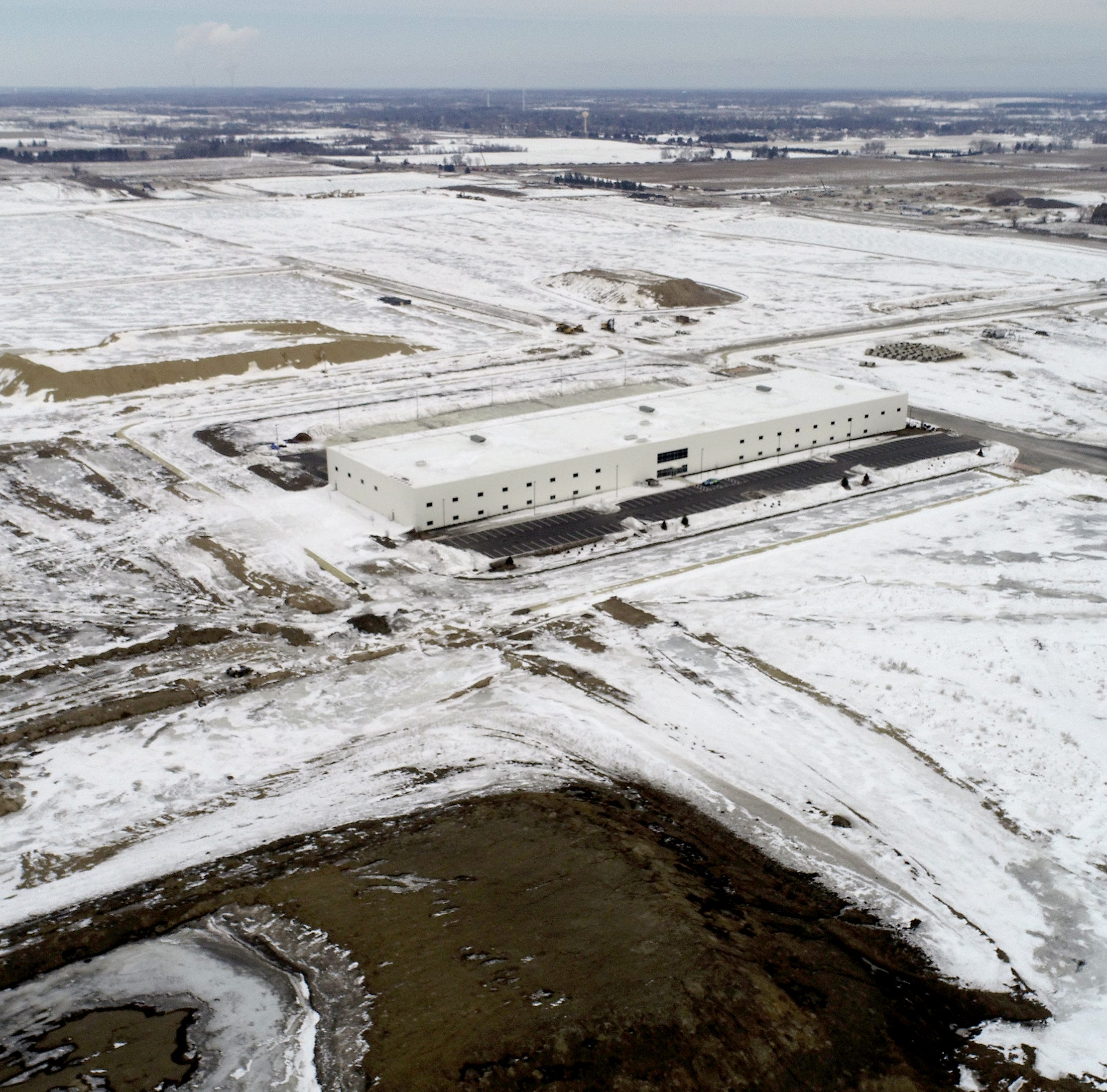 """The 120,000-square-foot multipurpose building"""" on the Foxconn Technology Group complex, still under construction,  in Mount Pleasant."""