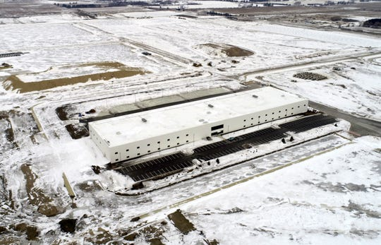 The 120,000-square-foot multipurpose building on the Foxconn Technology Group complex, which is under construction.