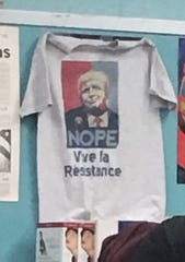 Roxbury woman said Roxbury High School history teacher who hung an anti-Trump T-shirt in his classroom was imposing his values on students.