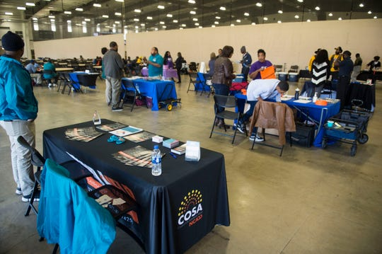 The Hateless foundation hosted a event to help feed people in need as well as connect them with other resources at the Cramton Bowl Multiplex in Montgomery, Ala., on Thursday, March 7, 2019.