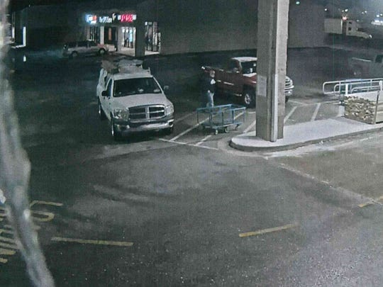 Muncie police are seeking the public's assistance in identifying the owner of the white vehicle shown in this surveillance video outside the Lowe's Home Improvement store on Sunday evening. Investigators said the man stole merchandise from outside that business and the nearby Rural King store.